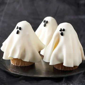 cupcakes halloween maça do amor pirulito