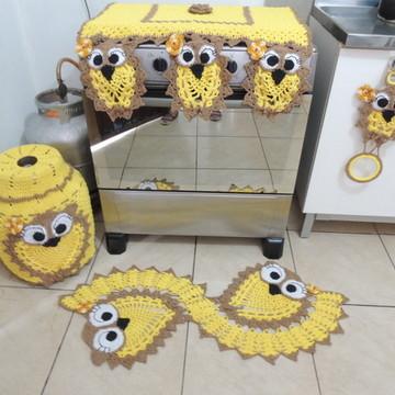 Conjunto Cozinha em croche 4 peças