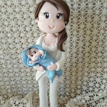 Médica em biscuit pediatra obstetrícia