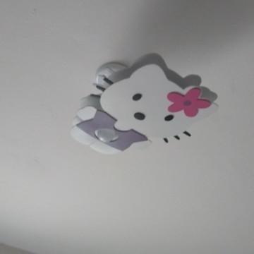 Luminária lustre infantil hello Kitty