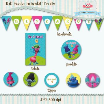 Kit Festa Infantil Trolls