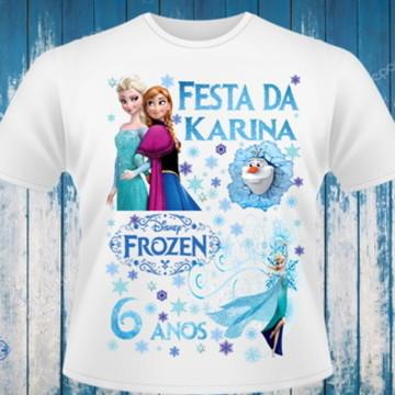 camiseta da frozen (tema de aniversário)