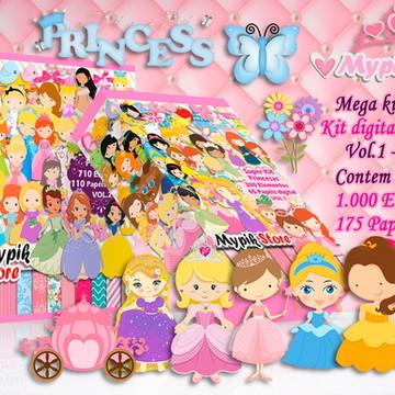 Mega Kit Digital Princesas 2 em 1