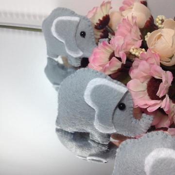 PROMOÇÃO Lembrança Elefantinho em feltro maternidade