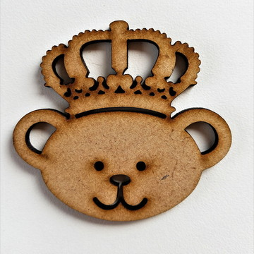 Aplique em mdf - urso príncipe