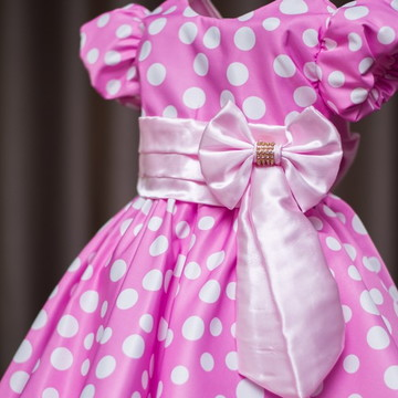 Vestido da Minnie Baby Rosa