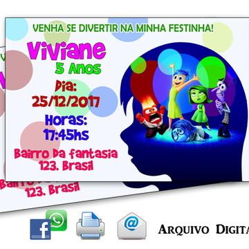 Convite Digital - Divertida Mente