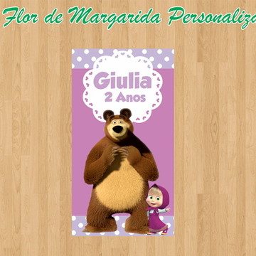 Adesivo Vinil para Long drink Masha e o Urso PODE MOLHAR!!!
