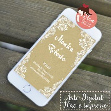 Convite de Casamento - Digital Folha