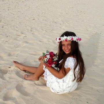 Vestido de Daminha Casamento na Praia - Infantil