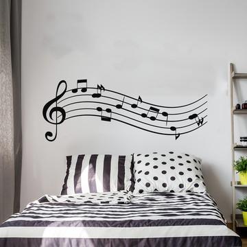Adesivo Parede Quarto Notas Musicais