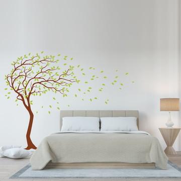 Adesivo Parede Quarto Árvore Galhos Verdes