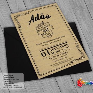 Convite 80 anos - Arte Digital