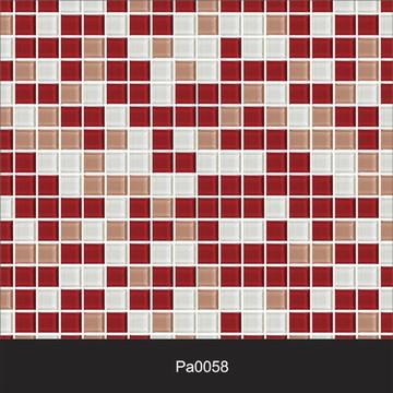Papel de Parede Pastilha Vermelho