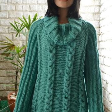 Blusa De Trico Cordas Esmeralda