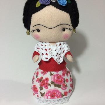 Boneca da Frida Kahlo em feltro