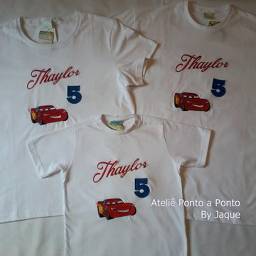 Kit Camisetas Lightning McQueen