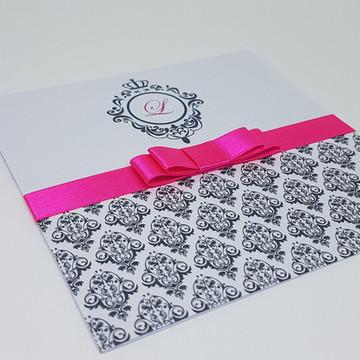 Convite de aniversario Pink e preto