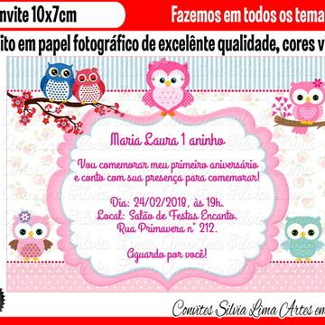 Convite corujinha coruja