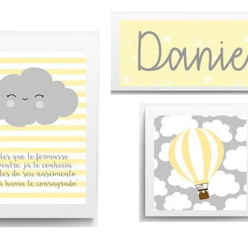 Quadros Decorativos para Quarto de Bebe Menino Balão
