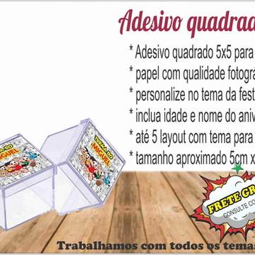 Adesivo quadrado para caixinha acrílica 5x5