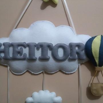 Enfeite Maternidade -Nuvem e Balão