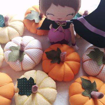 Abobora moranga pequena Halloween decora
