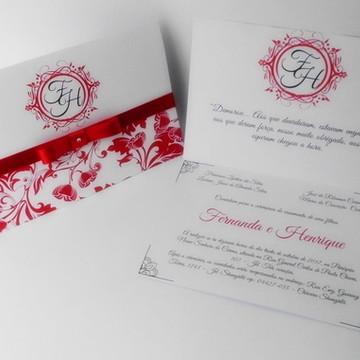 Convite de Casamento Elegante Delicado