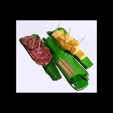 """Petisqueiro de garrafa reciclada triplica """"Corona"""""""