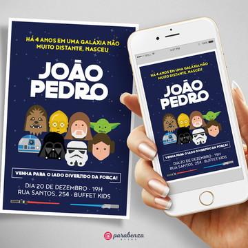 Arte Digital - Convite Star Wars