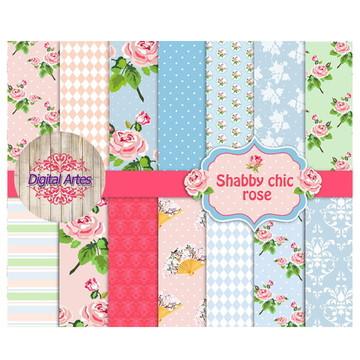 Kit Digital Papéis Florais