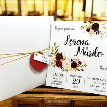 Convite Casamento Marsala Square