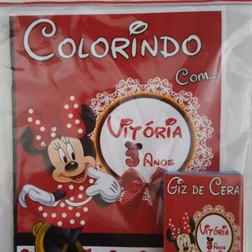 Kit de Colorir da Minnie Vermelha