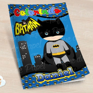 Revista colorir batman cute batgirl baby
