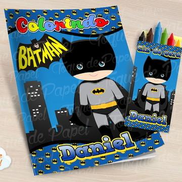 Kit colorir Batman cute batgirl baby