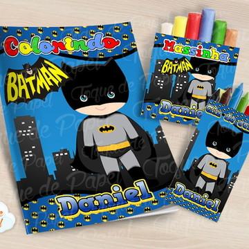 Kit colorir giz massinha batman cute batgirl baby