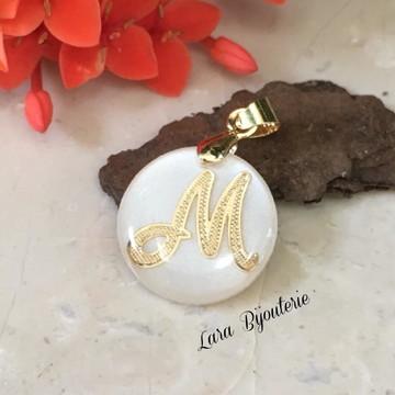 Pingente letra inicial - Letra M