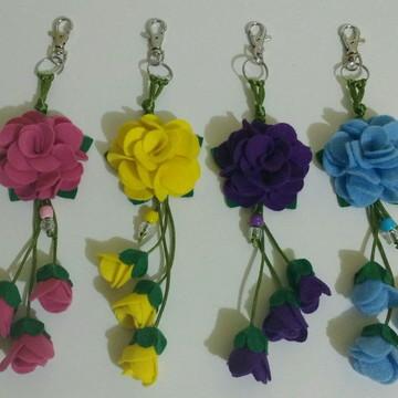 Chaveiro de Flor em Feltro II