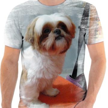 Camiseta Animal Cachorro Shih-tzu Fofo 3d Full HD 1