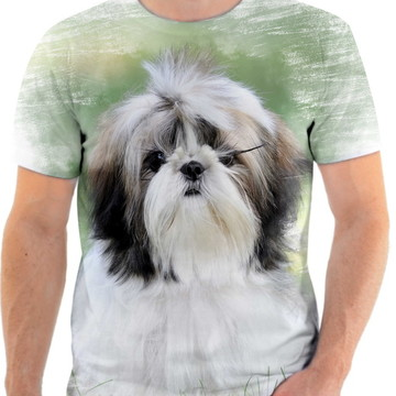 Camiseta Animal Cachorro Shih-tzu Fofo 3d Full HD 2