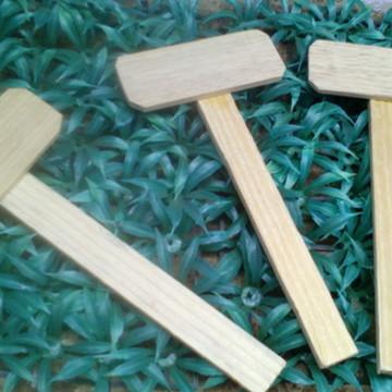 Placa de madeira para vaso e jardim