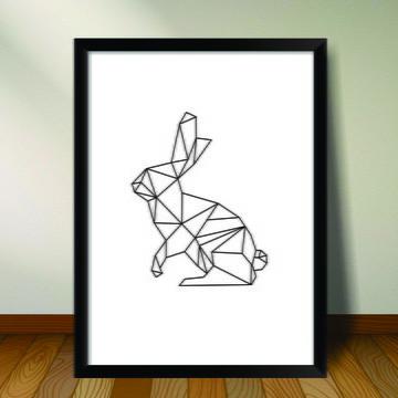 Poster Geometrico Animais