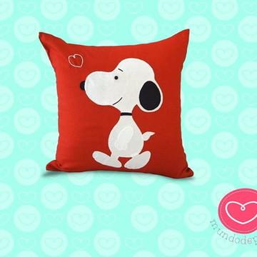 Almofada Snoopy em Patch Apliquee