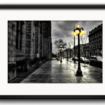 Quadro Paris Preto Branco com Paspatur