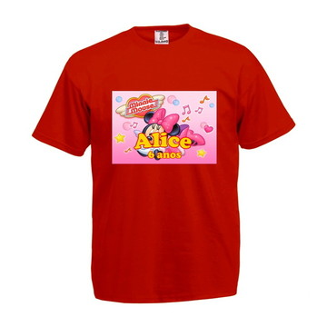 Camiseta Infantil Minnie Mouse