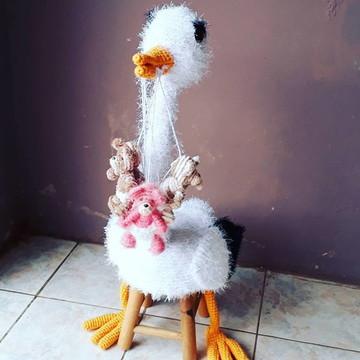 Banco de Bichinhos Completo - Cegonha, avestruz, peludinhos