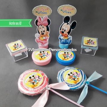 Monte seu kit festa Baby Disney Casal de Gêmeos