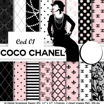 PAPEL DIGITAL COCO CHANEL