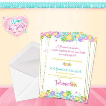 Convite Aniversário Primavera - DIGITAL