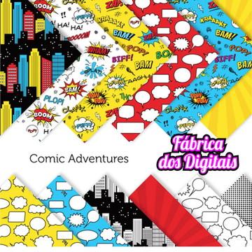 Kit Papel Digital - Heróis